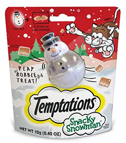 (Temptations Snacky Snowman Cat Toy and Cat)