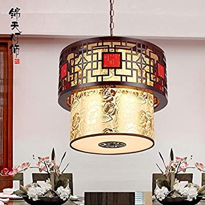 CLG-FLY Bar lamp, Chinese style lighting, solid wood lantern, corridor staircase, retro hotel restaurant, bar terrace