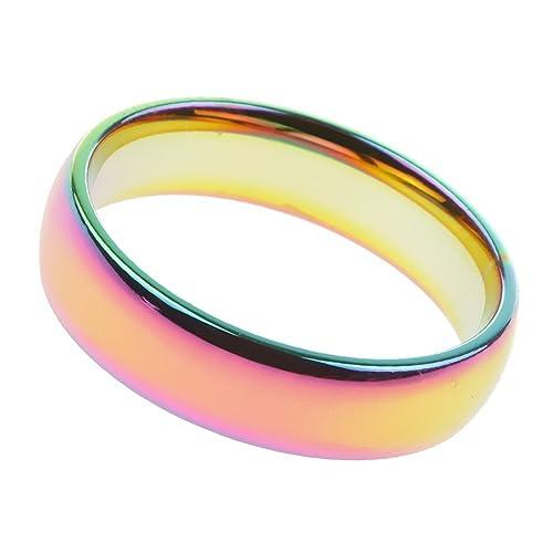 Generic Damen Herren Regenbogen Ringe Verlobungsringe Hochzeitsringe