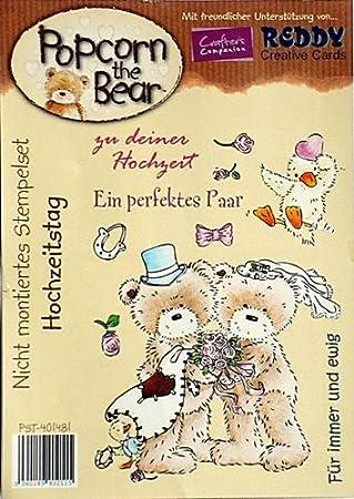 "Stempel /""Hochzeit/"" 401481 Popcorn the Bear"