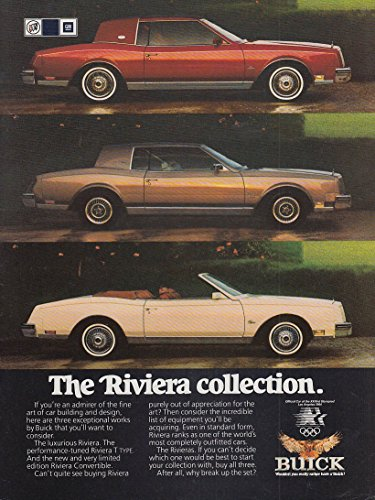 The Buick Riviera Collection ad 1983 T-Type Convertible NY