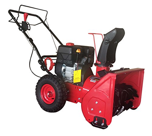 PowerSmart DB7622H Gas Snow Thrower, red, Black ()