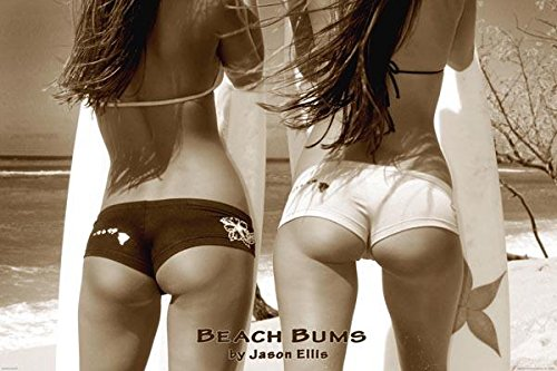 Beach Bums Sexy Surfers Butts Photo Poster 36x24