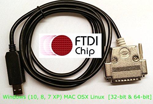 BlueMax49ers FTDI USB to DB-25-Male CNC DNC Serial Cable ...