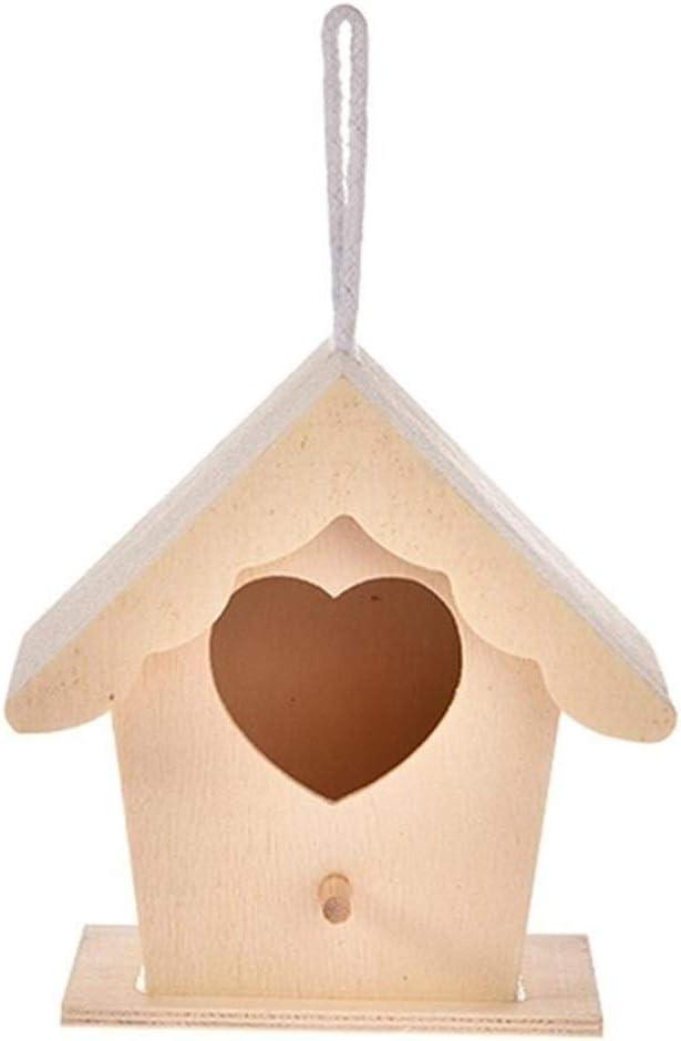 LDGR Caseta Pajaros 5 Tipos De Madera Casa del Pájaro Nido Creativo De Pared Colgante De La Jerarquía del Pájaro Decoración del Hogar Decoración De Jardinería (Color : 02)