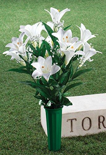 OakRidge-Easter-Lily-Memorial-Bouquet-Silk-Floral-IndoorOutdoor-Dcor-23-High