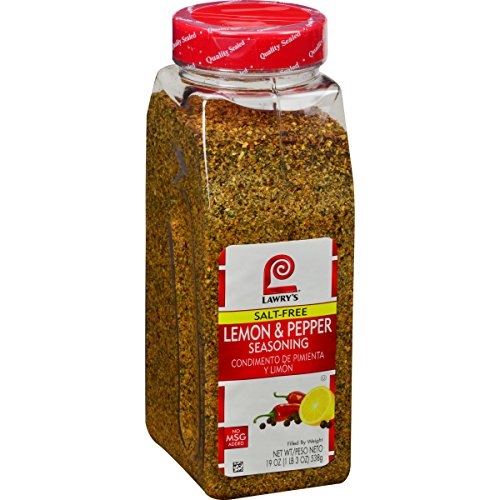 Lawry's Salt Free Lemon & Pepper Seasoning, 19 Ounce
