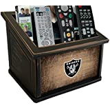 Fan Creations N0765-OAK Oakland Raiders Woodgrain Media Organizer, Multicolored