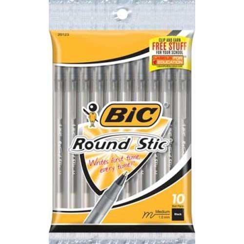 BIC Xtra Life Ballpoint Pens, Medium Tip, 10ct - Black