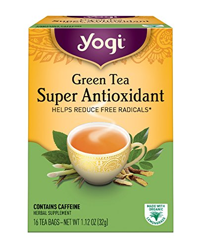 Yogi Tea, Super Antioxidant Green Tea, 16 Count (Pack of 6), Packaging May Vary (Super Effect)