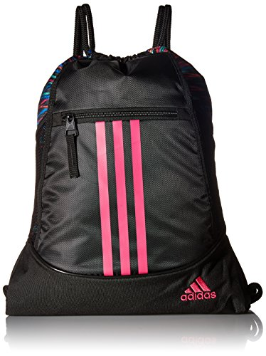 adidas Alliance II Sack Pack, One Size, Black Twister/Black/Shock Pink by adidas