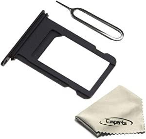 Ewparts Replacement Part for iPhone 8 Sim Card Tray (Black)