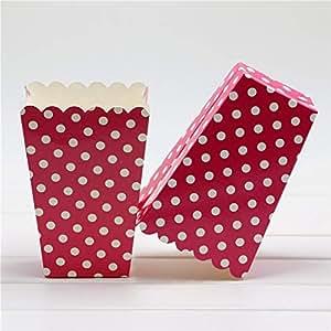 Amazon.com: ASMGroup Popcorn Boxes Popcorn Box 6 PCS/lot Pop Baby Shower Mini Chevron Popcorn ...