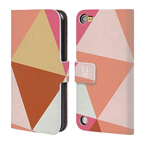 Head Case Designs Carne Triangolo Prismatici Cover a portafoglio in pelle per iPod Touch 5th Gen / 6th Gen