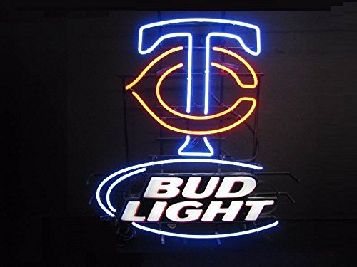 Desung 32''x24'' Minnesota Twin Logo Bud-Light Neon Sign (VariousSizes) Beer Bar Pub Man Cave Business Glass Lamp Light DC271