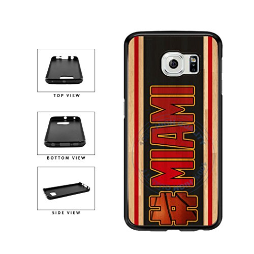 - BleuReign(TM) Basketball Team Hashtag Miami #Miami TPU RUBBER SILICONE Phone Case Back Cover For Samsung Galaxy S7 Edge