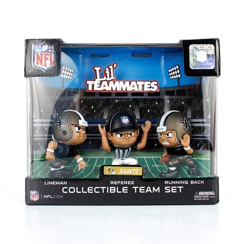 Lil' Teammates 3 Figurine New Orleans Saints NFL Team Set (Pack of 3) New Orleans Saints Football Uniform