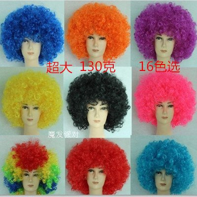 Custom-made explosive head fans of children's holiday party dress studio photography Halloween clown wig wig Chrisas ()