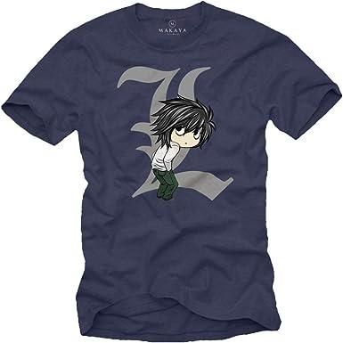 MAKAYA Anime Manga T-Shrit - Death by Ryuk - Camiseta Frikis Hombre: Amazon.es: Ropa y accesorios