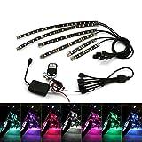 ZXREEK 6PCS RGB LED Car Motorcycle Chopper Frame Glow Lights Flexible Neon Strips Kit