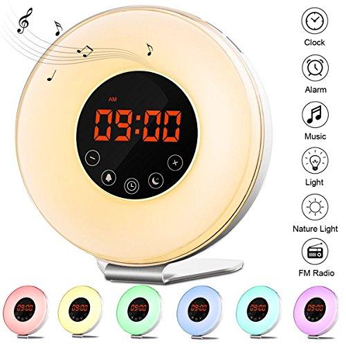 Wake Up Light Alarm Clock, Sunrise/Sunset Simul...