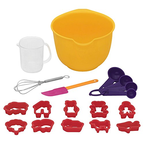 - Baker's Secret 18 Piece Kids Baking Set, Multicolor