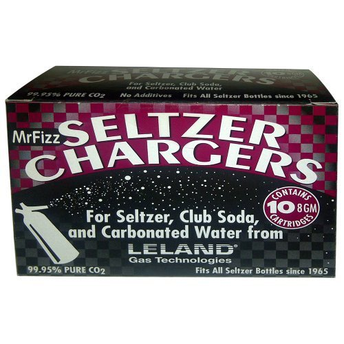 180 Ct Bottle (Leland Soda Chargers Seltzer Chargers CO2 180 count)
