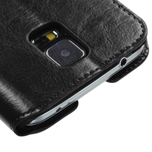 sale retailer 833ca 99a25 Wydan Case for Samsung Galaxy S5 - Credit Card Leather Wallet Kickstand  Slim Shockproof Phone Cover - Black