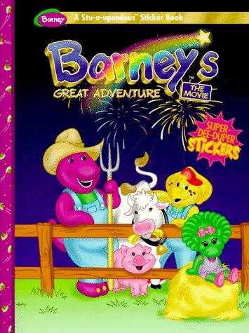 Barney's Great Adventure: A Stu-U-Upendous Sticker Book (Dino-Mite Color/Activity , Vol 1)