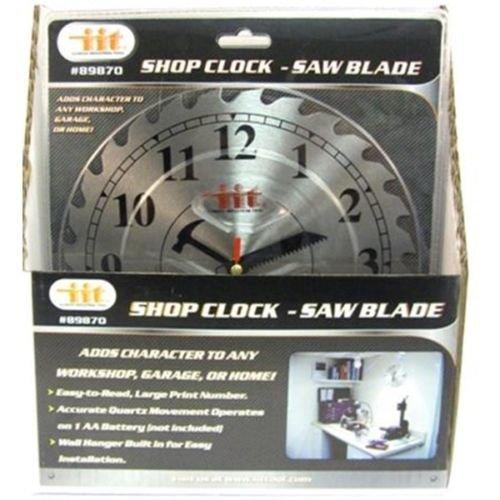 10'' CIRCULAR SAW BLADE WORKSHOP DECORATIVE WALL CLOCK Garage Mens Tool Cave