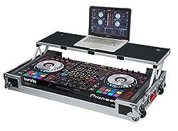 Gator Cases G-TOUR Series DJ Controller Road Case with Sliding Laptop Platform - Custom Fit for Pioneer DDJ-SZ; (G-TOURDSPDDJSZ)