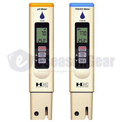 HM Digital COM-80 + PH-80 Waterproof TDS/EC/PH Meter COMBO