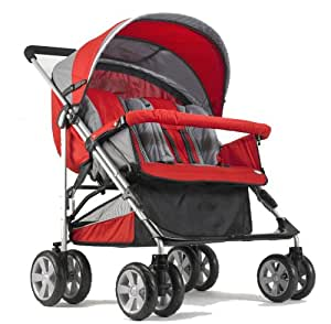 Amazon.com : Zooper Tango Red Side by Side Double Stroller ...