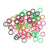 1/4'' inch Orthodontic Elastic Rubber Bands, 500 Pack, Neon, Medium Force 3.5 oz, Small Rubberbands for making bows, Dreadlocks, Dreads, Doll Hair, Braids, Horse Mane, Horse Tail by Cayenas