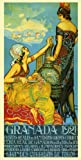 Granada 1921 Trip to Spain Spanish Fashion Ladies Girls Fruits Travel Tourism 12'' X 24'' Image Size Vintage Poster Reproduction, We Have Other Sizes Available on Amazon