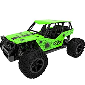 Leegor 1:16 2WD High Speed RC Racing Car Remote Control Truck Mini Off-Road Buggy Trick Jeep Car Toys Cool Xmas Gift (green)