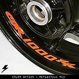 Honda CBR1000RR Motorcycle Inner Rim Sticker Stripe RR