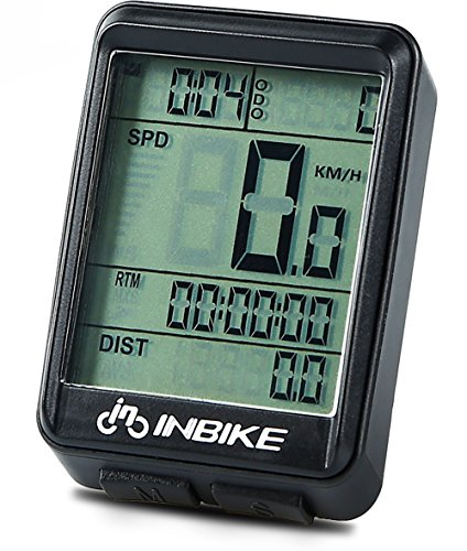 Bike Computer Speedometer Wireless Waterproof Bicycle Odometer Cycle Computer Multi-Function Large LCD Back-light Display by DD&DEE
