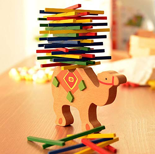 Euone  Christmas Clearance , Kids Educational Toys Camel Wooden Balance Game Montessori Blocks Gift ()