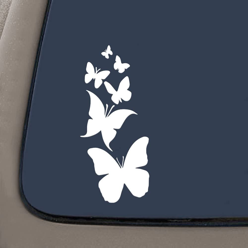 "NI122 Butterfly Family- Die Cut Vinyl Window Decal/sticker for Car , Truck, Laptop | 7"" X 3"" 