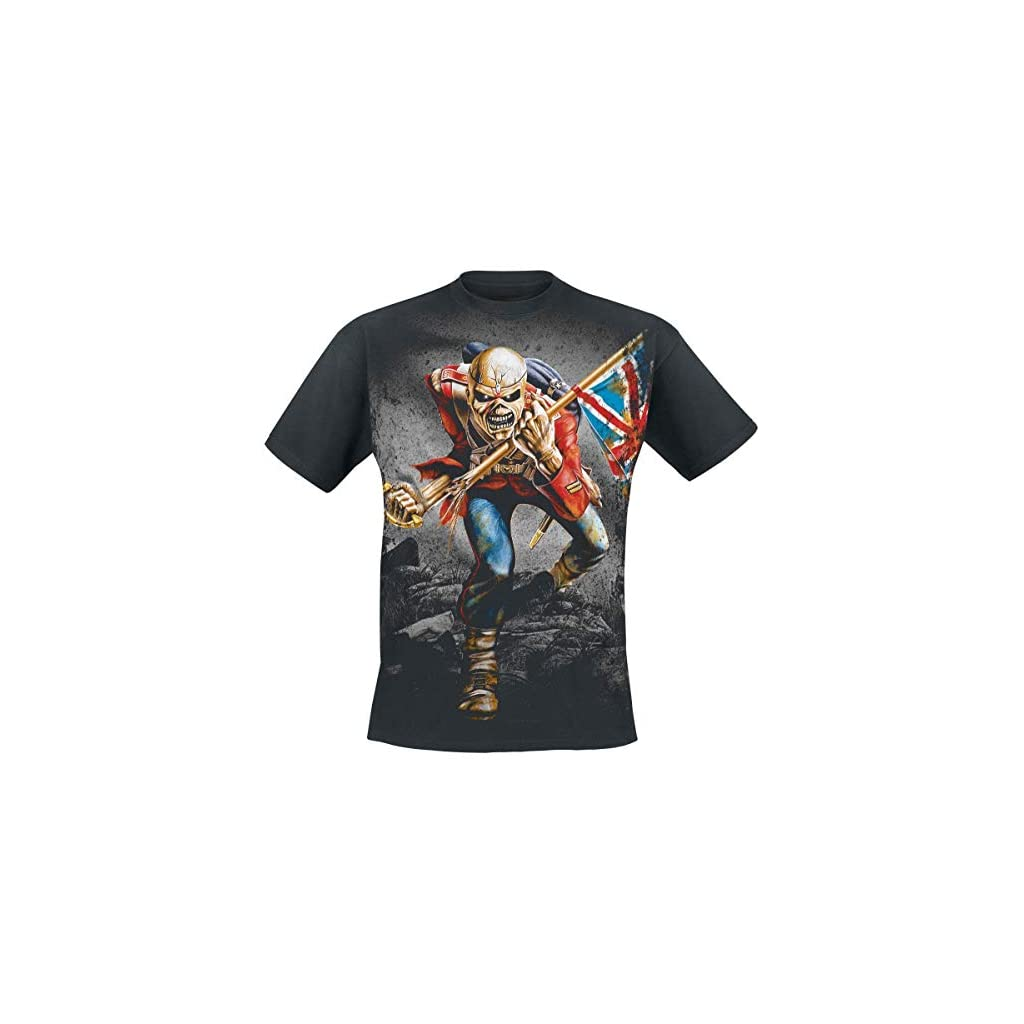 Iron Maiden The Trooper Camiseta Negro
