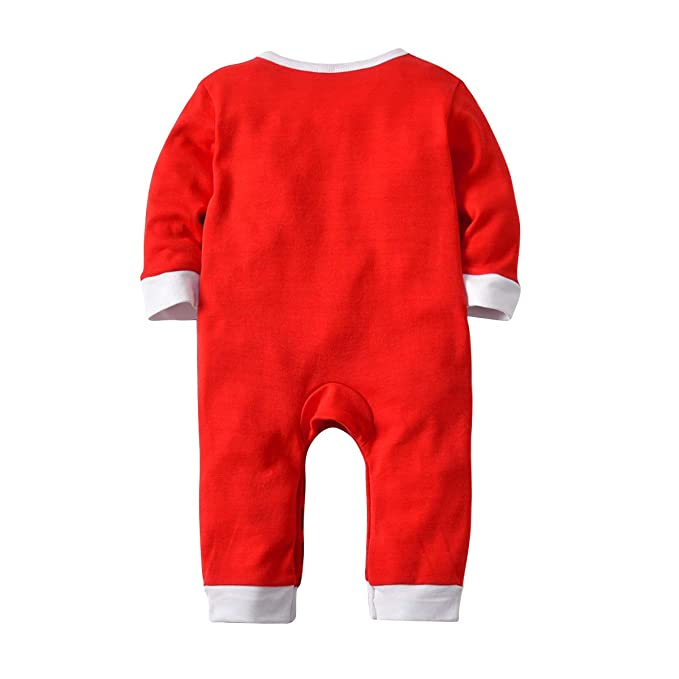 Amazon.com  Infant Christmas Santa Pajamas Romper Set Ugly Funny Baby Pjs  Sleepwear Jumpsuit  Clothing ad4ecf3ea