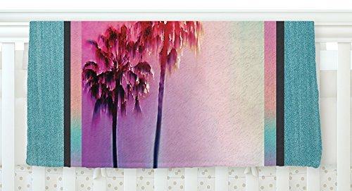 KESS InHouse Nina May LA Rainbow Pink Blue Fleece Baby Blanket 40 x 30 [並行輸入品]   B077Z37F3H