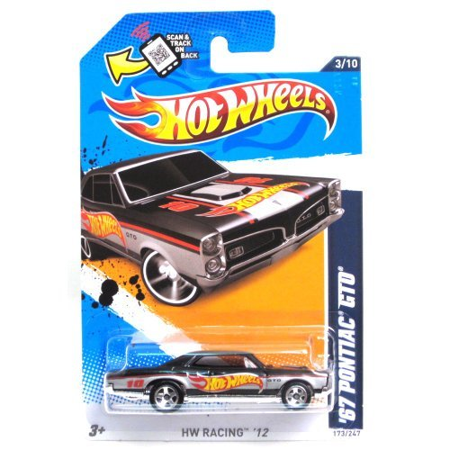 Hot Wheels 2012 Hot Wheels Racing '67 Pontiac GTO Black Card ()