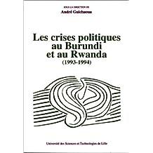 Crises Polit. Au Burundi & Au Rwanda