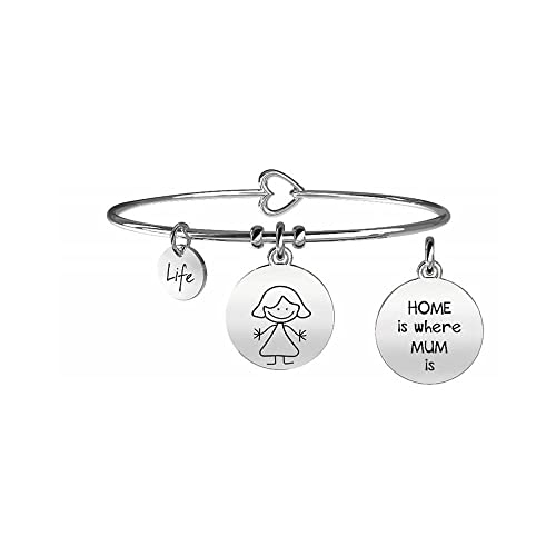 KIDULT LIFE Collection Bracciale in acciaio MAMMA 231564 Amazon.it  Gioielli