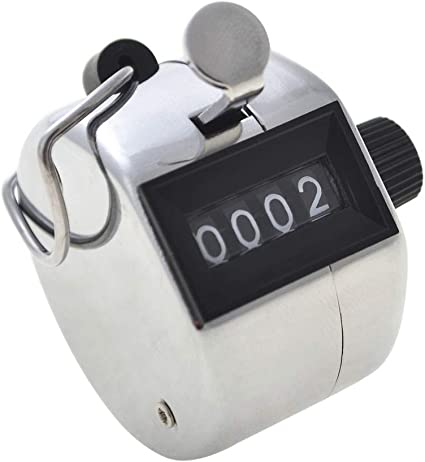 Sports Hand Held Clicker Number Counter 4 Digit Counting Manual Mechanical Tools