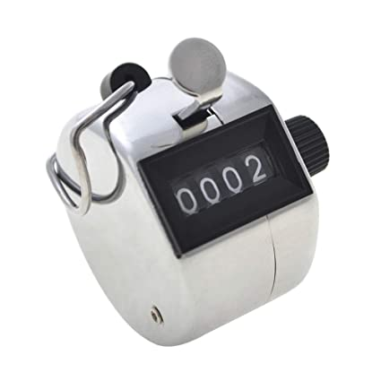GOGO Tally Counter, Carnival Hand Held Counter, 4 Digit Manual Mechanical Click Counter