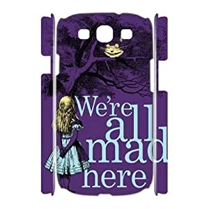 Custom We are all mad here Case for Samsung Galaxy S3 I9300 with Alice in Wonderland We're all mad here Cheshire Cat Smile Face yxuan_4220002 at xuanz Kimberly Kurzendoerfer