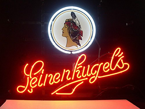 Wisconsin LEINENKUGELS Beer Bar Pub Store Party Room Wall Windows Display Neon - Leinenkugels Beer